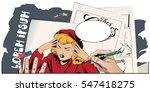 stock illustration. people in... | Shutterstock .eps vector #547418275