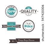 set of vintage labels. | Shutterstock .eps vector #547420306