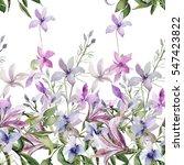 seamless pattern of wild... | Shutterstock . vector #547423822