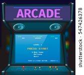 retro arcade game machine.... | Shutterstock .eps vector #547426378