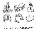 finance  money set. stack of... | Shutterstock .eps vector #547426876