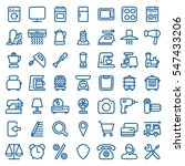 thin linear icon set of... | Shutterstock .eps vector #547433206