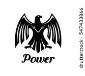 eagle vector icon. heraldic...   Shutterstock .eps vector #547433866