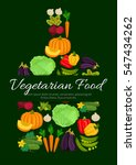 fresh pumpkin and broccoli...   Shutterstock .eps vector #547434262