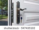 Open Door Of A Family Home....