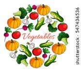 vegetables and fresh veggies.... | Shutterstock .eps vector #547436536