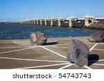 neeltje jans delta bridge... | Shutterstock . vector #54743743