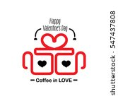 coffee in love flat style for... | Shutterstock .eps vector #547437808