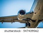 plane taking off in barcelona... | Shutterstock . vector #547439062