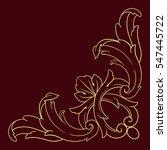 vintage baroque corner scroll...   Shutterstock .eps vector #547445722