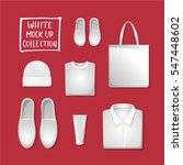 white mock up collection   set. ... | Shutterstock .eps vector #547448602