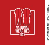 national wear red day vector... | Shutterstock .eps vector #547448812