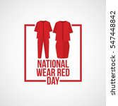 national wear red day vector... | Shutterstock .eps vector #547448842