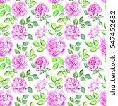 watercolor flower pattern | Shutterstock . vector #547452682