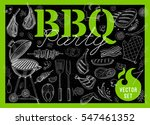set bbq party. barbecue... | Shutterstock .eps vector #547461352