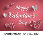 concept of happy valentine day... | Shutterstock .eps vector #547463182