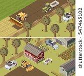 ranch isometric horizontal... | Shutterstock .eps vector #547465102