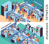 two open space isometric...   Shutterstock .eps vector #547465126