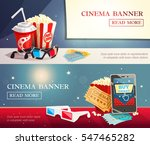 cinema entertainment flat... | Shutterstock .eps vector #547465282