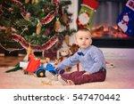 portrait of a little boy near... | Shutterstock . vector #547470442