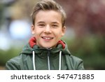 portrait of cheerful teenager... | Shutterstock . vector #547471885