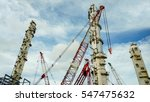 oil refinery construction site  ... | Shutterstock . vector #547475632