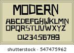 geometric modern font  ... | Shutterstock .eps vector #547475962