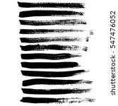 black ink vector brush strokes. ... | Shutterstock .eps vector #547476052