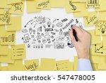 close up of a businessman's... | Shutterstock . vector #547478005