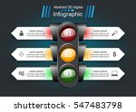 traffic light infographic. ... | Shutterstock .eps vector #547483798