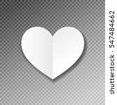 white paper heart shape origami ... | Shutterstock .eps vector #547484662