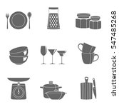 kitchenware flat design... | Shutterstock .eps vector #547485268