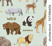 pattern with different wild... | Shutterstock . vector #547486606