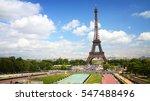 paris   trocadero gardens and... | Shutterstock . vector #547488496