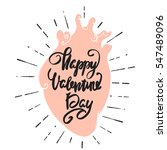 happy valentine's day greeting... | Shutterstock .eps vector #547489096