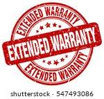 extended warranty. stamp. red...   Shutterstock .eps vector #547493086