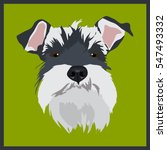Icon With Schnauzer Dog. Vecto...