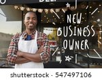 black male new business owner... | Shutterstock . vector #547497106