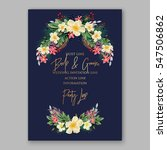 anemone wedding invitation... | Shutterstock .eps vector #547506862