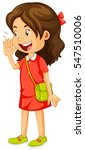 little girl in red dress... | Shutterstock .eps vector #547510006