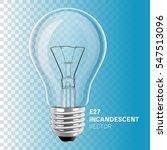 realistic incandescent light... | Shutterstock .eps vector #547513096