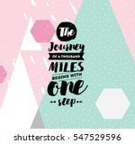 the journey of a thousand miles ... | Shutterstock .eps vector #547529596