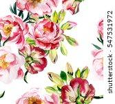 pink peonies pattern. seamless... | Shutterstock . vector #547531972