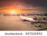 airplane ready for boarding in... | Shutterstock . vector #547533952