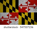 Small photo of graphic american state grunge flag of maryland