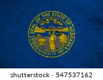 Small photo of graphic american state grunge flag of nebraska