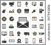 set of multimedia icons.... | Shutterstock .eps vector #547541806