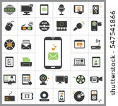 set of multimedia icons.... | Shutterstock .eps vector #547541866
