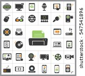 set of multimedia icons.... | Shutterstock .eps vector #547541896