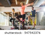 healthy young athletes doing... | Shutterstock . vector #547542376